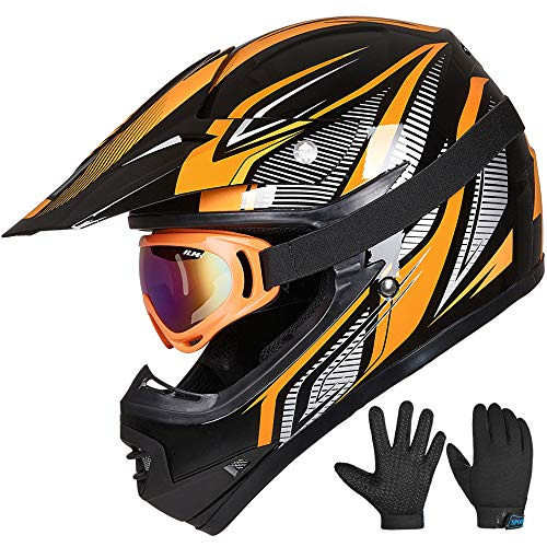 ILM Youth Kids ATV Motocross Helmet Goggles Sports...