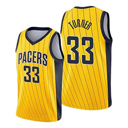 Myles Turner - Maillot de baloncesto (2021 New Season Pacers # 33), color amarillo