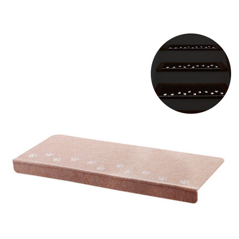 Alfombrillas de goma para escalera AOLVO antideslizantes y luminosas con parte trasera de goma, alfombrillas autoadhesivas, alfombra de área lavable, duradera, protege las escaleras, reduce el riesgo de deslizamiento: Amazon.es: Hogar