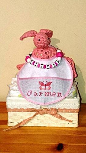 Cesta nacimiento personalizada. Artesanía, handmade