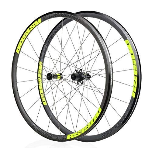 LBBL Ruedas Bicicleta, 700C Wheels C Freno Anillo Clip 8 9 10 11 Velocidad Rueda Aro Aluminio Liberación Rápida 29 Pulgadas Ligera Y Resistente A La Torsión (Color : E, Size : 27.5inch)