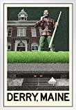 Derry Maine Fantasy Travel Poster mit Holzrahmen, 35,6 x