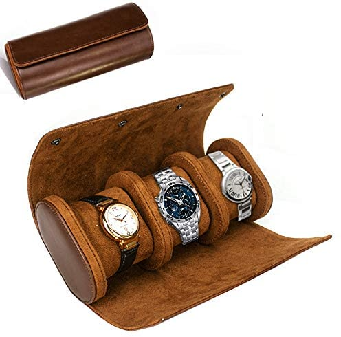 ROSELLE Watch Spring new work one after another Roll Travel Case for Storag Men and Women- 3 Easy-to-use
