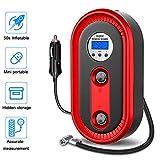 NLYWB Mini Pompe de compresseur d'air, indicateur portatif de gonfleur de Pneu de Voiture de CC de...
