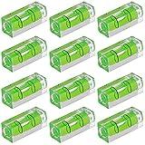 Mini Nivel de Burbuja Nivel Burbuja Acrílico Burbuja Nivel Cuadrado Duradero Nivel Burbuja Pequeño Mini Nivel Alta Precisión Nivel Burbuja Alta Calidad para imágenes Marca Instrumentos Medición 12Pcs