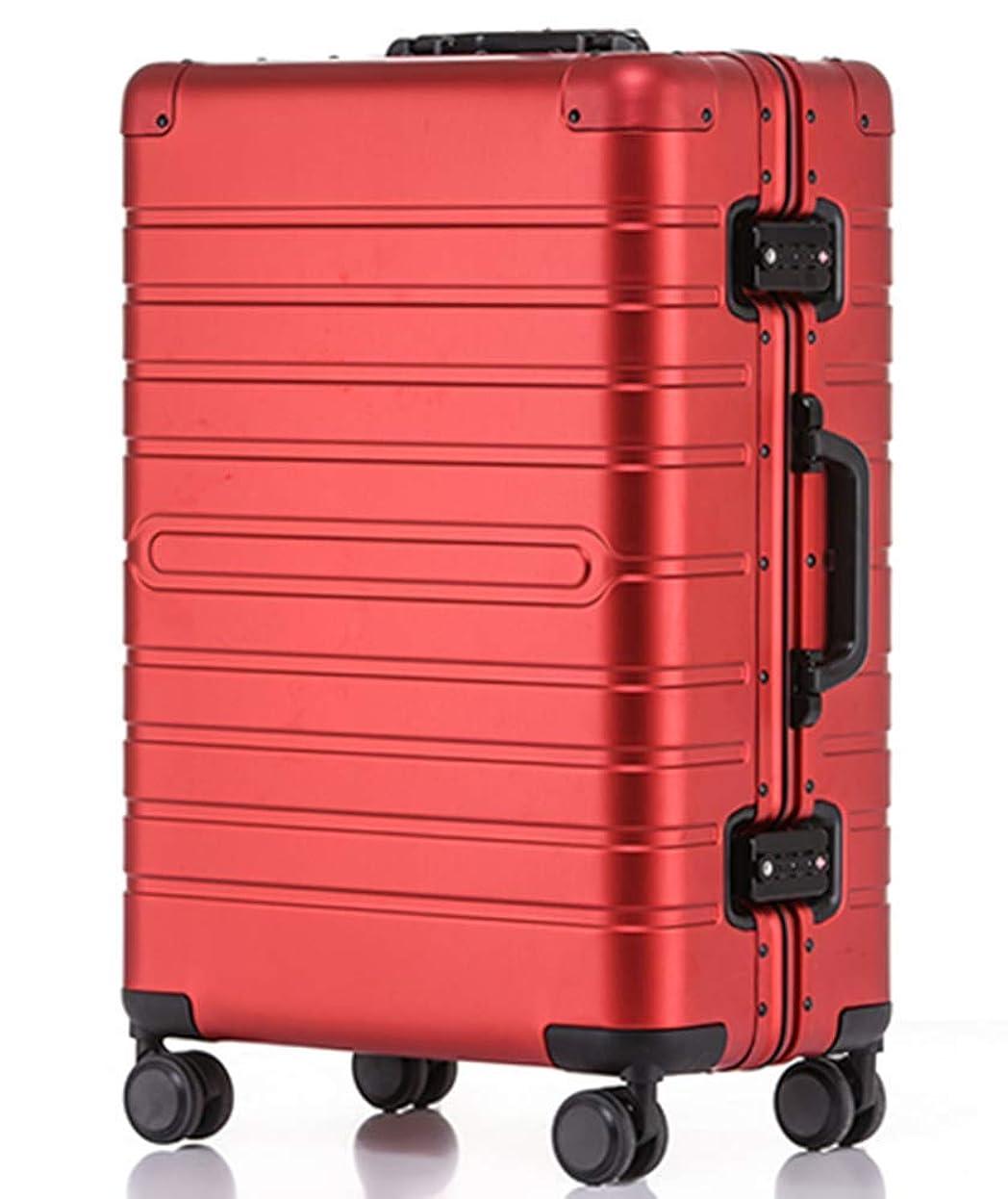 はいたくさんの圧倒的Langxj hj スーツケース アルミマグネシウム合金 キャリーバッグ ダブルキャスター?静音 キャリーケース TSAロック搭載 フレームタイプ ドイツ製カバー付き 軽量 機内持込8095