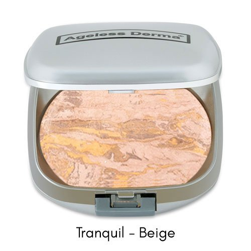 Ageless Derma Mineral Baked Foundation Makeup- A Vegan and Gluten Free Makeup Foundation (Tranquil Beige)