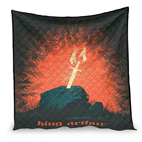 YshChemiy King Arthur - Edredón de algodón para el hogar, codo, edredón para una persona, 173 x 203 cm
