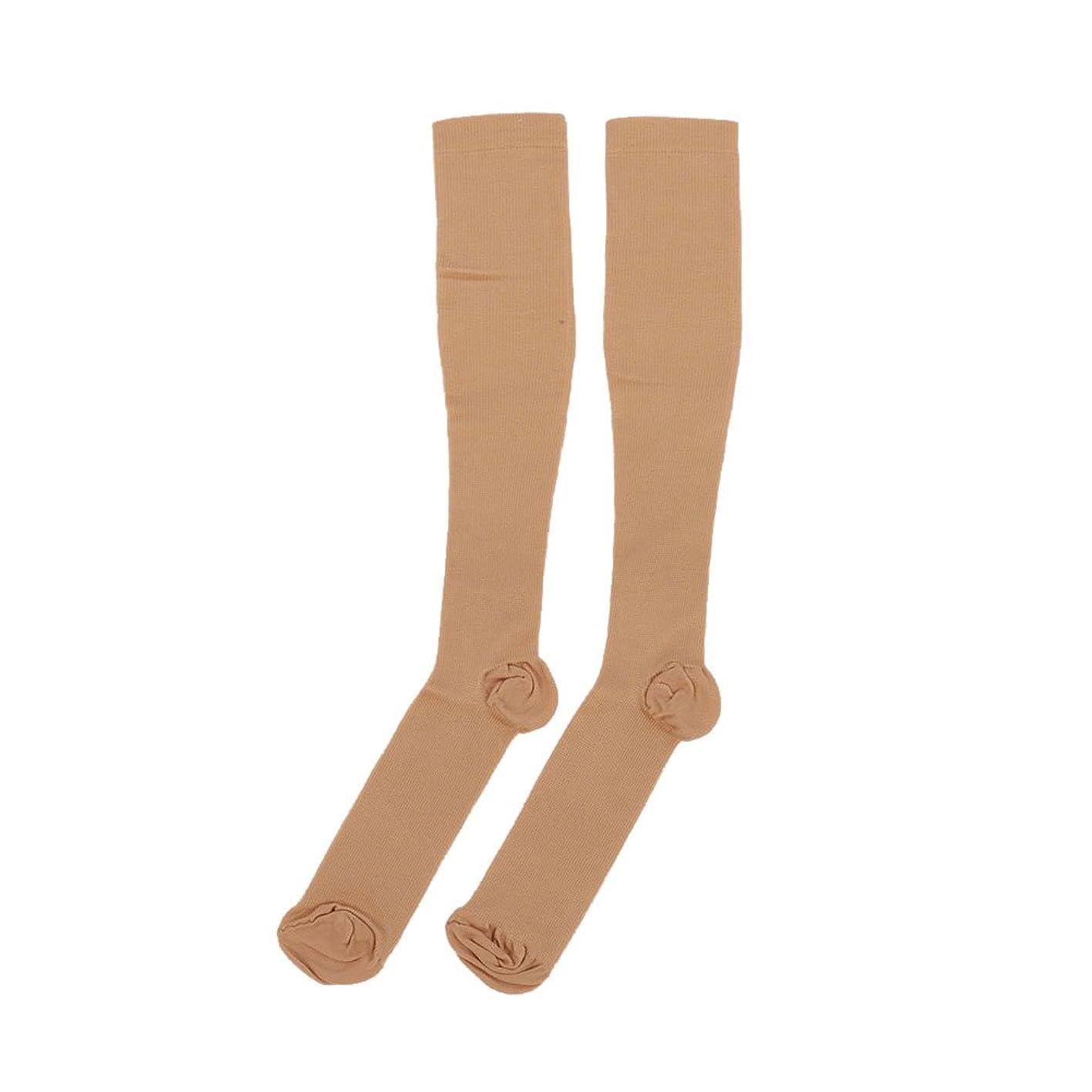 ブランク制限する重なるkasit 着圧ソックス 弾性ストッキング ハイソックス むくみ解消 美脚ふくらはぎソックス