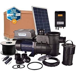PlusEnergy Kit Depuradora de Piscina Solar 750W 1cv con 4 Paneles solares 280W + Accesorios