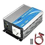 GIANDEL Wechselrichter 600W Reiner Sinus Spannungswandler 12V auf 230V Power Inverter mit Fernbedienung und USB-Anschluss für Laptop, Kamera, Smartphone