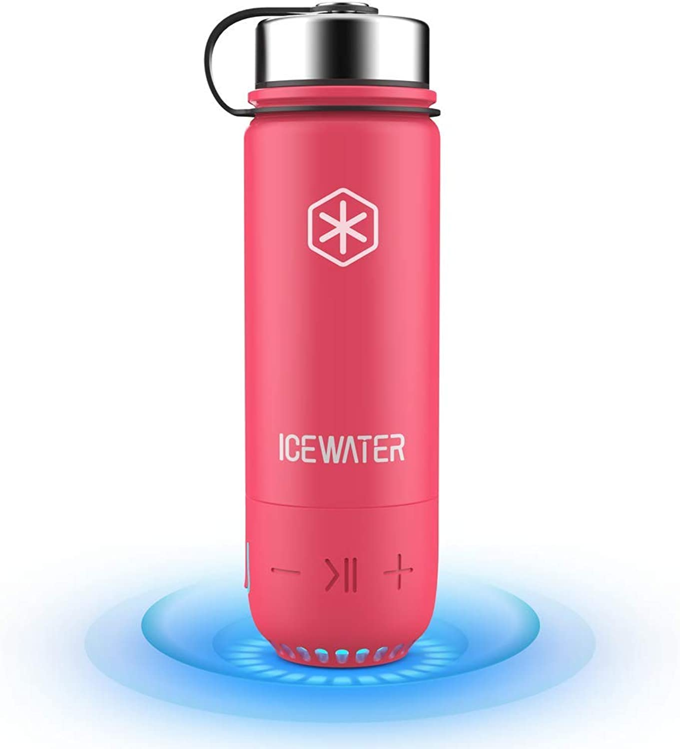 ICEWATER 3in1 Smart Stainless Steel Water Bottle(Glows to Remind You to Stay Hydrated)+blueeetooth Speaker+ Dancing Lights,20 oz,Stay Hydrated and Enjoy Music,Great Gift
