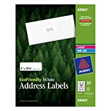 Avery EcoFriendly Mailing Labels for Laser and Ink Jet Printers, 1 x 2 5/8 Inches, White, Permanent, Pack of 300 (48860)
