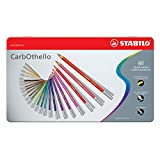 Lápiz de color tiza-pastel STABILO CarbOthello - Caja de metal con 60 colores