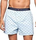 Tommy Hilfiger Men's Underwear Woven Boxers, Ice, Medium