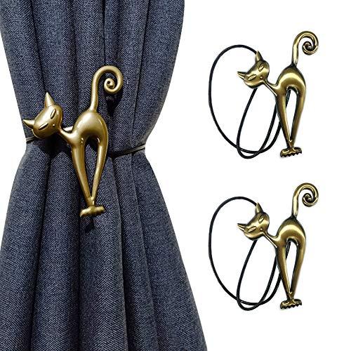 1 par / 2 alzapaños magnéticos para cortinas, diseño de dibujos animados