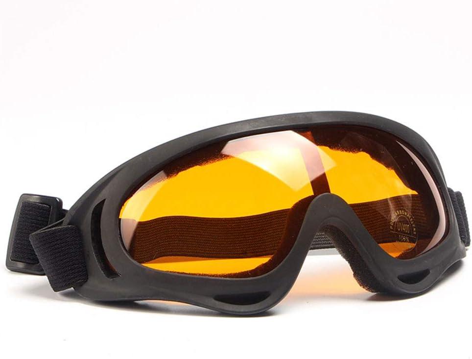 LTongx Gafas, Parabrisas, vidrios tácticos, protección Ocular Fuera de la Carretera, Gafas de esquí, Gafas polarizadas de conducción al Aire Libre,Naranja