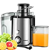Home Centrifugal Juicer Electric Juice Extractor for Whole Fruit Citrus Vegetables Stainless Steel 2 Speed Modes 600w BPA-Free Wide Mouth