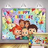 Fondo lindo de coco-melón Fondo de fiesta de tema familiar de dibujos animados Fondo de fiesta de sandía de cumpleaños 1,5 x 0,9 m