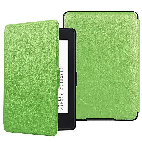 HiveNets Custodia rigida Kindle Paperwhite Premium Silk Cover più sottile e leggera con Auto Wake/Sleep per Amazon 2018 New Generation Verde