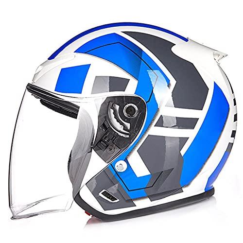 Casco de motocicleta retro casco abierto casco jet casco abierto aprobado por ECE/DOT adecuado para ciclomotor cruiser scooter casco U,M