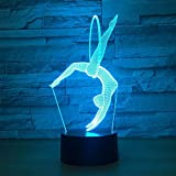 Eurhythmics Baby Night Light 3D LED Lámpara de mesa regalo de cumpleaños para niños decoración de la habitación junto a la cama
