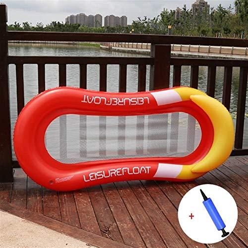 GPQHSM Bikini Nouveau Salon Piscine d eau Hamac Gonflable Flottant Ligne Vacances épais Matelas d air Plage Sommeil Float Coussin Relax Bed (Color : Red)