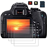 PCTC Screen Protector Compatible for Camera Canon EOS 800D Reble T7i Optical Tempered Glass Film[3...