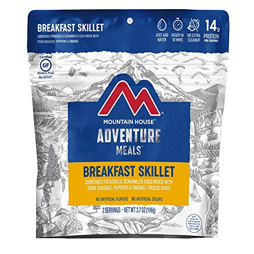 Mountain House Breakfast Skillet | Freeze Dried Backpacking & Camping Food | 2 Servings | Gluten-Free
