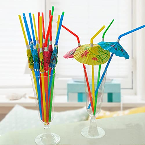 ABRC 25/50 / 100pcs Papel Hawaiian Party Mix sombrilla de Paja Decoración Disponible Drinking cóctel Pajas Sombrilla Tropical Party Decor