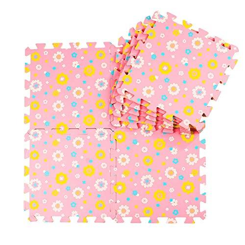 ZTMN Foam Puzzel Vloertegels Baby Play Mat met Grensveiligheid Duurzame Woonkamer Studie Kamer Kruiptapijten, Meerdere kleuren, 60x60x1.9cm (Kleur : A, Maat : 6-Tegels)