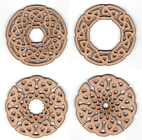 EP Laser Celtic Ornament Set (Circle 1) - Round Knot Rope Design