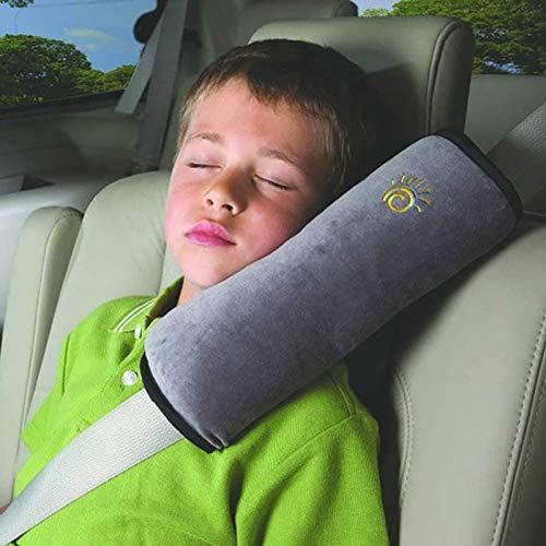 HCJGZ Cinturón de Seguridad de Seguridad de bebé Cinturón de cinturón de cinturón de Hombro Cubierta de Hombro Protección Infantil Soporte de Almohadas de Almohadas de automóviles,Gris