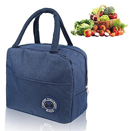 Lunch Tasche,6L Picknicktasche Kühltasche,Kleine Kühltasche,Thermotasche Faltbar Klein,Kühltasche Faltbar,Kühltasche Mini,Kühlbox für Picknick,Kleine Kühlbox (Marine)