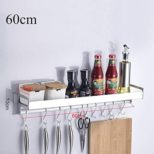 Porta Utensili da Cucina Parete, Mensole Cucina da Muro, Portacoltelli per Tenere Coltelli, Spezie E Altri Utensili da Cucina,Bianca,60cm