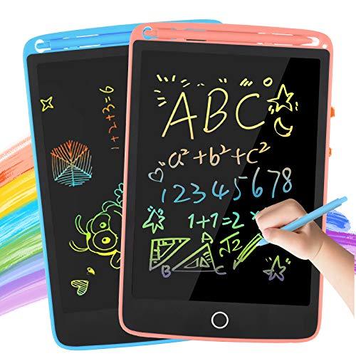 BDBKMG LCD Schreibtafel 2 Pack, 8,5 Zoll Zeichenbrett mit 2 Magneten, löschbarem Handschriftblock, tragbarem Notizblock, elektronischem Kindertablett-Schreibblock für das Home School Office