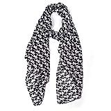 Lingso Women E-lvis P-resley Scarf for Girl Boy Gift Fashion Men's Black Wrap (black scarf)