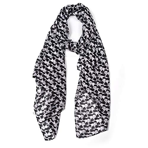 Lingso Women Scarf for Girl Boy Gift Fashion Men's Elvis Presley Black Wrap (black scarf)