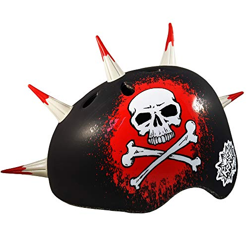 UPD Krash Jolly Roger Spikes Mohawk Kids Bike Helmet Ages 8+