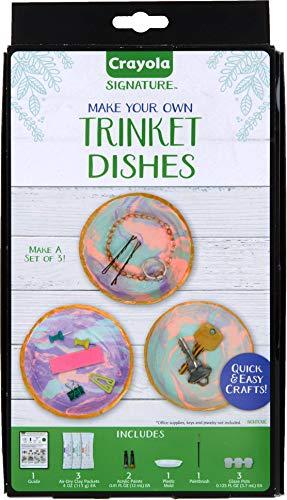 Crayola DIY Trinket Tray, Versatile Catchall Dish, Unique Gifts for Mom, 8Pcs