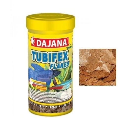 Dajana Tubifex Flakes Nourriture spéciale en flocons pour poissons, reptiles aquatiques et animaux de terrarium