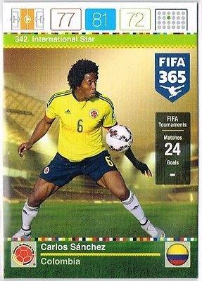 Panini Adrenalyn XL FIFA 365 Carlos Sanchez International Star Trading Card