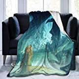 Eileen Powell Mal and Aurora Printing Fan Art Mantas de Tiro navideñas, Spring Super Cosy Thick 80 * 60in