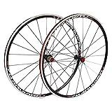 TYXTYX Schnellwechselachsen Fahrradzubehör 25-mm-Rennrad-Rennradsatz 700C, doppelwandige...