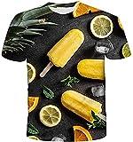 Camiseta Termica Niño Azul Camiseta con Estampado Camiseta Food 3Dt Camiseta Casual Manga Corta para Hombre