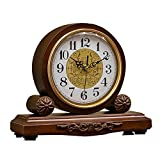 Reloj silencioso Marrón El Punto Completo Cronometraje Retro Reloj de Bodega Reloj de Chimenea (Color: Color Profundo - Sin Pago de Tiempo)
