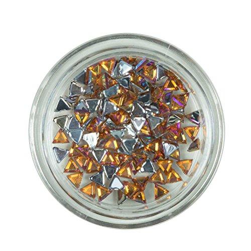 Strass triangle or de pierres de strass avec décoration en cristal Rhinestones Nail Art