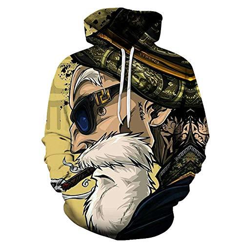 CCCYT 3D Print Anime Cool Sweatshirt met lange mouwen Trui Trekkoord Capuchon Unisex