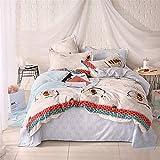 LYJZH Bettbezug & Kissenbezug Leichte Mikrofaser Bettwäsche Set Einzelgröße Doppelte King Size Einfache Bettdecke colour24 1.5m