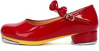 AOQUNFS Chaussures de Claquettes pour Fille/Unisexe-Enfant Tap Dance Shoes,WX208